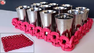 Glass Stand !! Best Kitchen Organization ideas | Best Out of Waste News Paper Craft | How to DIY
