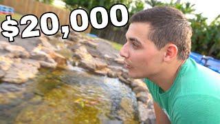 $20,000 dollar Aqua Scape Koi Pond **POND BUILD**