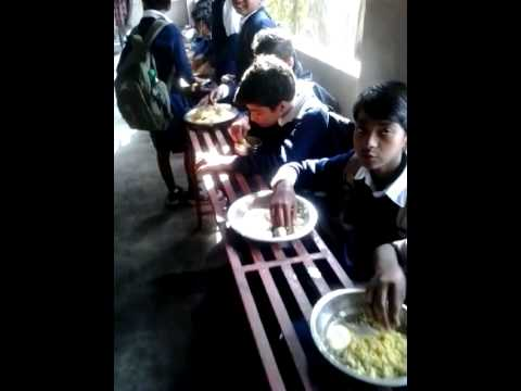 Mid day meal of Bansberia Municipal High School