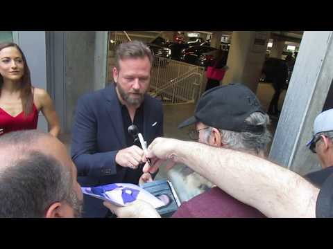 Dallas Roberts signing autographs at Netflix's Insatiable Season 1 premiere in Hollywood
