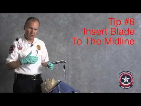 Safer VL intubation: Insert blade to midline