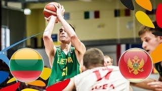Lithuania v Montenegro - Full Game - Class. 9-12 - FIBA U20 European Championship 2018 thumbnail