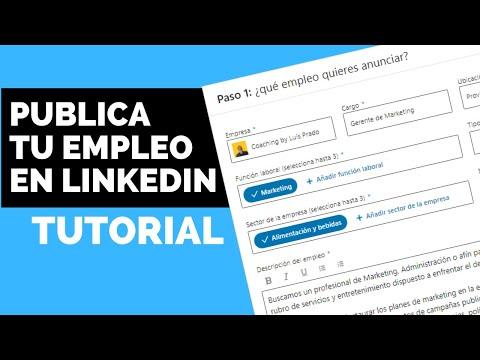 Como publicar un EMPLEO en LinkedIn (ANUNCIAR UNA VACANTE DE TRABAJO)
