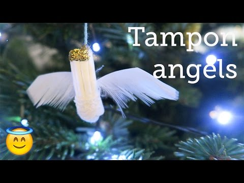 How to make tampon angels