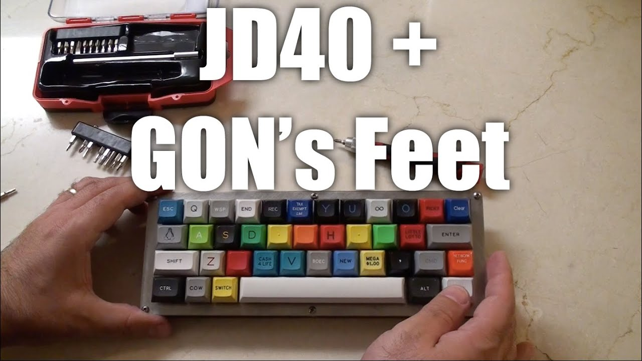 Mechanical Keyboards: Add GON's feet to the JD40 for the ultimate  Programmable Mechanical Keyboard
