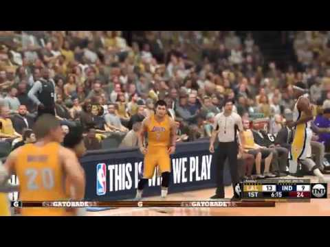 NBA 2K17 Los Angeles Lakers @ Indiana Pacers