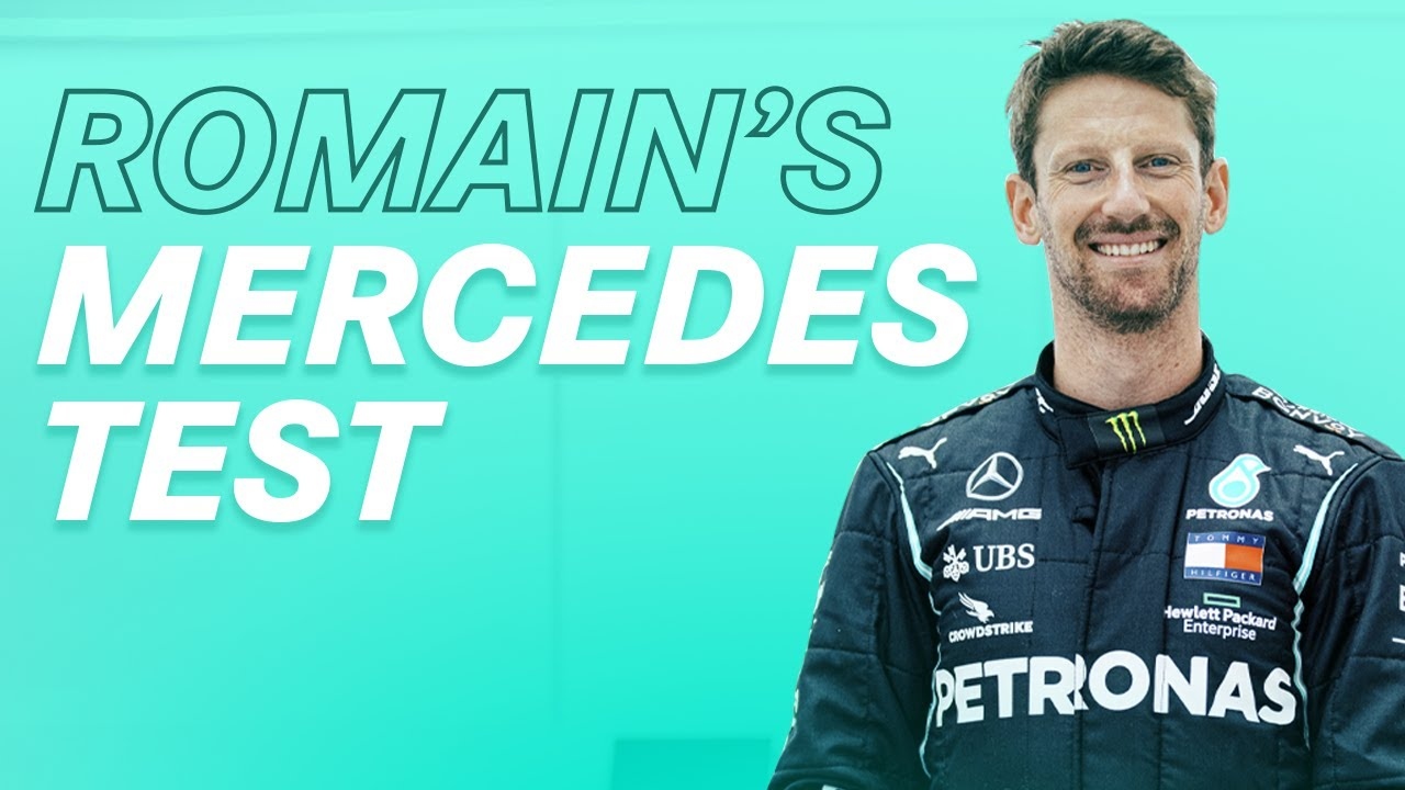Download Announcing Romain Grosjean's Special Mercedes F1 Test!