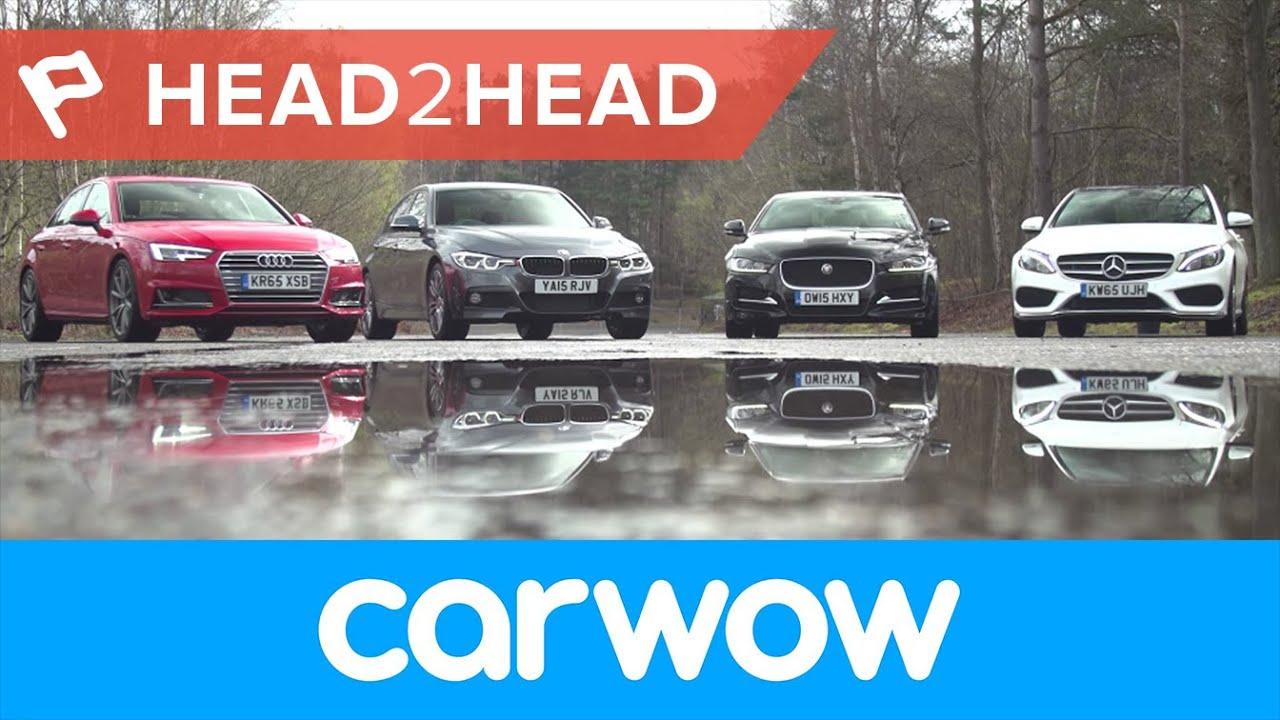 Audi A4 vs Mercedes C-Cl vs BMW 3 Series vs Jaguar XE Saloons ...