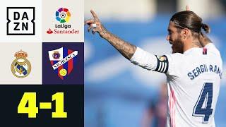 Benzema veredelt Ramos' 500. LaLiga-Spiel: Real Madrid - Huesca 4:1 | LaLiga | DAZN Highlights