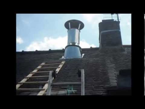 La pose de la sortie de toit poujolat youtube - Tuyau de poele leroy merlin ...
