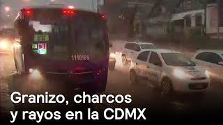 Granizo, charcos y rayos en la CDMX - Clima - En Punto con Denise Maerker thumbnail