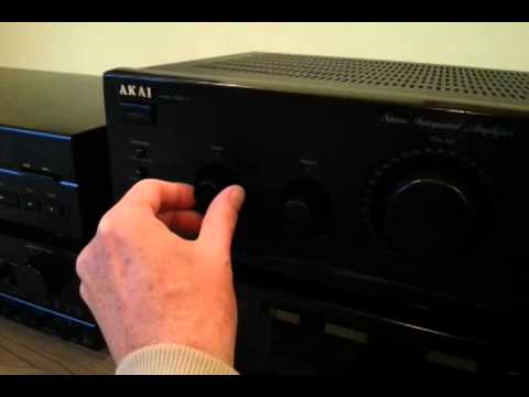 Stereo integrated amplifier Akai AM-17; test