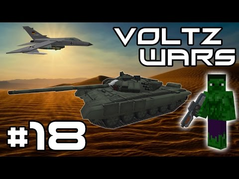 Minecraft Voltz Wars - The Lava Moat And Basic Turrets! #18
