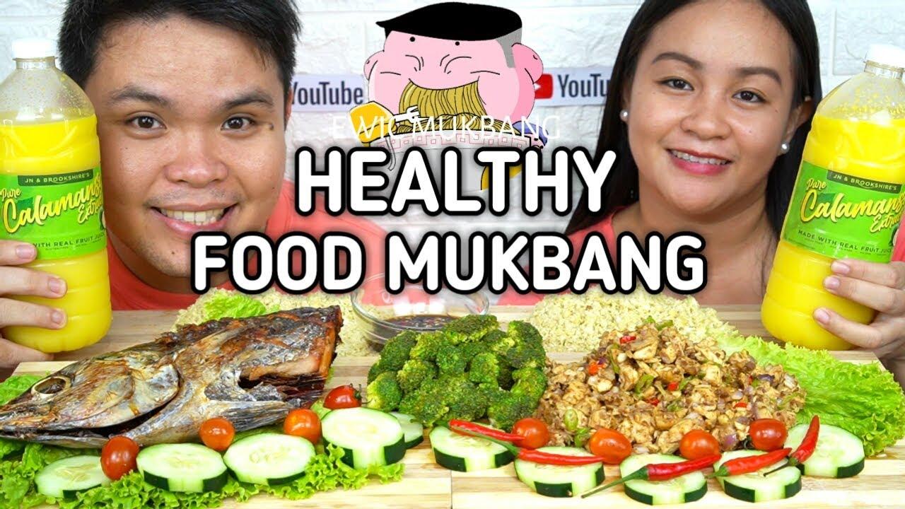 Cauliflower Fried Rice, Chicken Breast Sisig, Turbo Tambakol Mukbang / Collab With @RedKent Bites