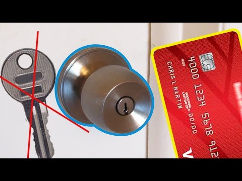LIFE-HACK HOW TO OPEN THE LOCK?  USING PLASTIC CARD