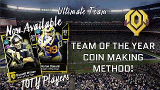 Madden 20 Ultimate Team Team Of The Year Coin Making Method