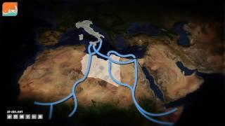 سياسة  فيديوجراف.. طرق الهجرة إلى أوروبا عبر البحر المتوسط