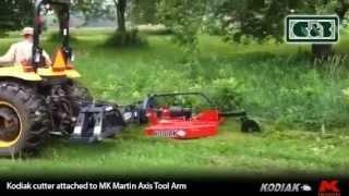 Kodiak Cutter attached to an MK Martin Axis Tool Arm