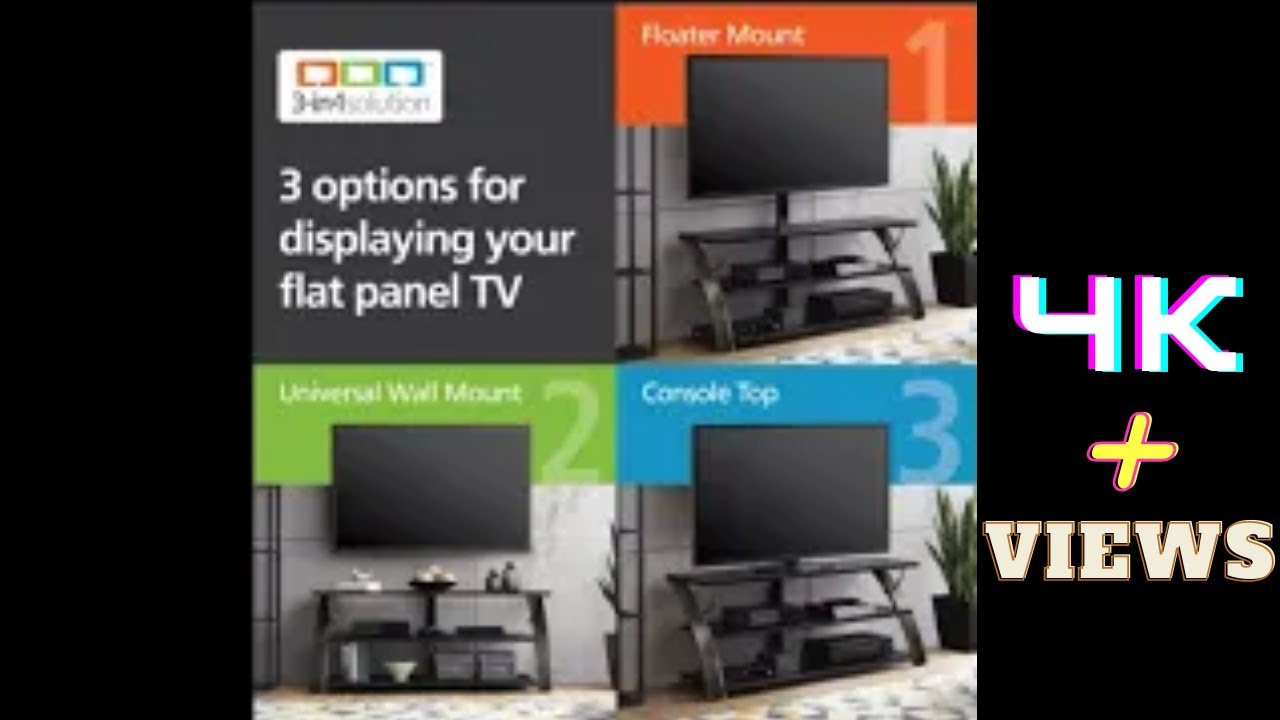 Guide Of Whalen Furniture Payton 3 In 1 Flat Panel Tv Stand Xl 33e Youtube