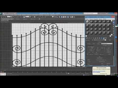 How To Make A Gate Grill Model In 3ds Max Beginners Tutorial