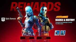 (NEW) Fortnite 2 FREE ITEMS & UNLOCK Zadie & Metal Mouth SKIN STYLES : Search and Destroy Rewards