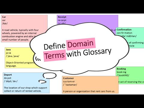 How to Define Domain Terms with Glossary