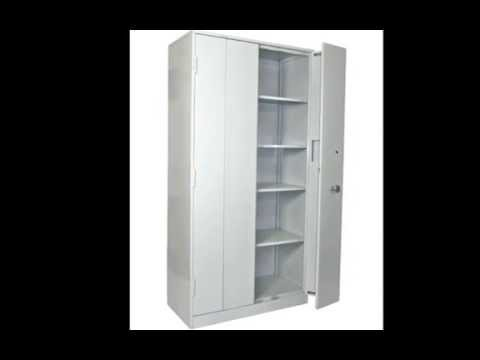 Ex-MoD Secuirty Cupboard with Chubb 14 Lver Mersey Lock and Bi Folding Doors