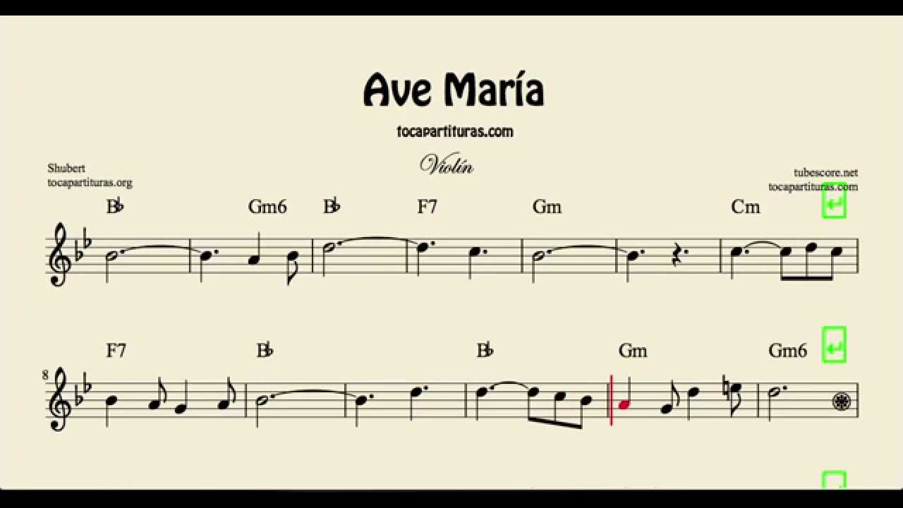 Ave mara sheet music for violin with chords youtube hexwebz Gallery