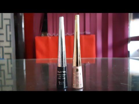 lakme 9to5 eyeliner vs colorbar waterproof eyeliner review, affordable eyeliner in india, eyeliners
