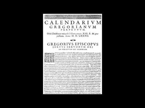 4th October 1582: Gregorian calendar introduced by Pope Gregory XIII