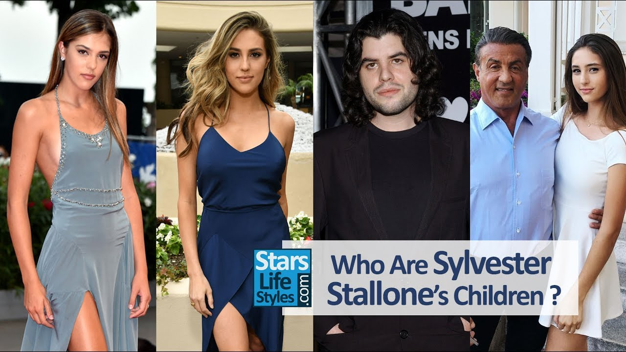 Who Are Sylvester Stallone S Children 3 Daughters And 2 Sons Youtube