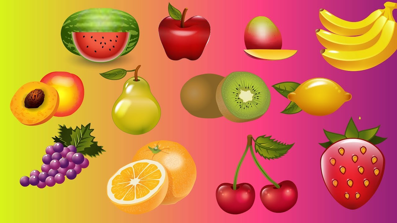 Meyveleri Öğreniyoruz - Çocuklar İçin Eğitici Öğretici Çizgi Film - Meyve İsimleri