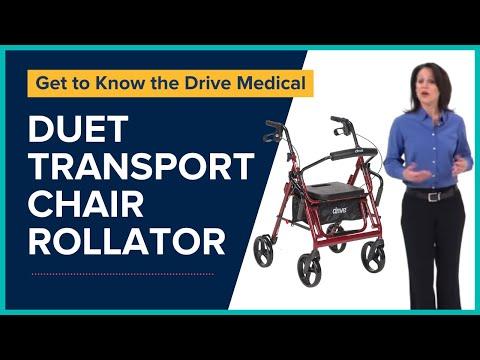 Drive Medical - Duet Transport Chair Rollator