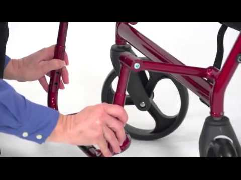 Drive Medical Duet Transport Chair Rollator Youtube