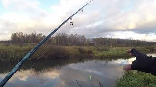 Рыбалка со СПИННИНГОМ на МАЛОЙ РЕКЕ осенью Ловля ЩУКИ спиннингом ОСЕНЬЮ