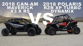 2018 Polaris RZR XP Turbo Dynamix VS Can Am Maverick X3 X RS