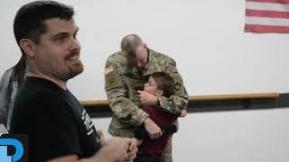 Staff Sgt. Rob Cesternino surprises his son