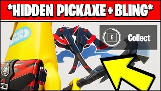 FIND THE BACK BLING & PICKAXE HIDDEN LOCATIONS - SORANA OUTFIT CHAOS RISING (Fortnite)