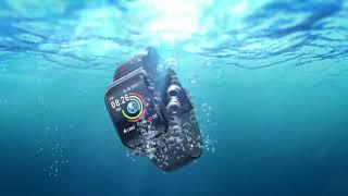 Смарт часы f9 водонепроницаемые ip68 напоминания о звонках ультра длительное время ожидания спорт