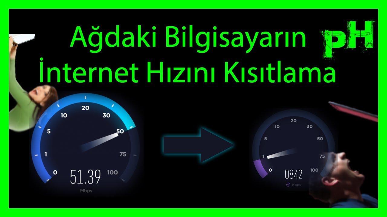 İnternetin hızı nasıl sınırlanır