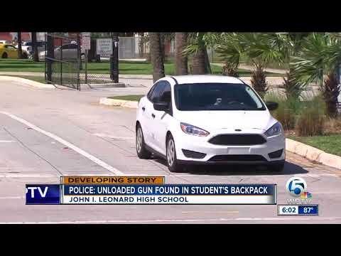 Student brings unloaded gun to John I. Leonard High School