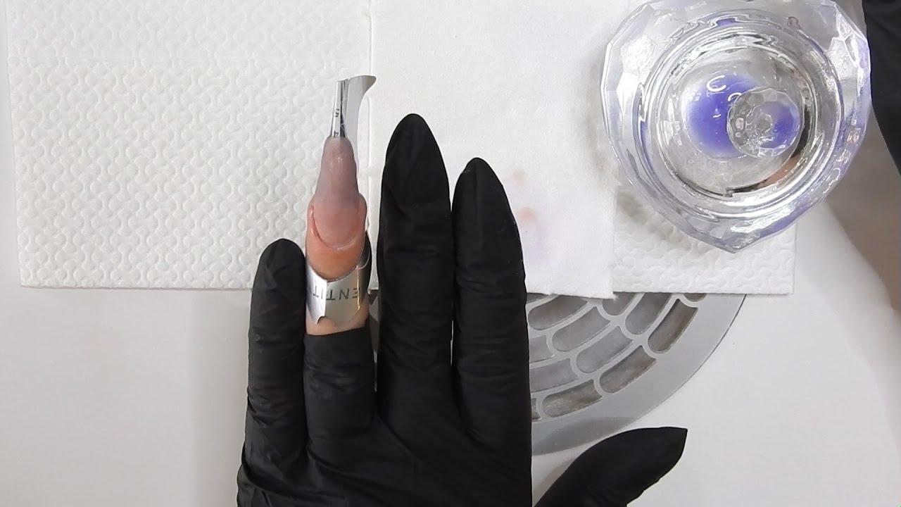 Aufbau Acrylnägel modellieren für Anfänger. So gehts. - YouTube