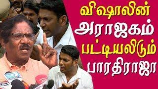 vishal arrested how vishal misused producer council bharathiraja tamil news live