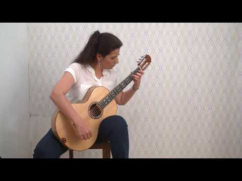 Romantic Guitar  Eugenia Karamitrou plays J.S.Bach-PRELUDE from Lute Suite no3-BWV995