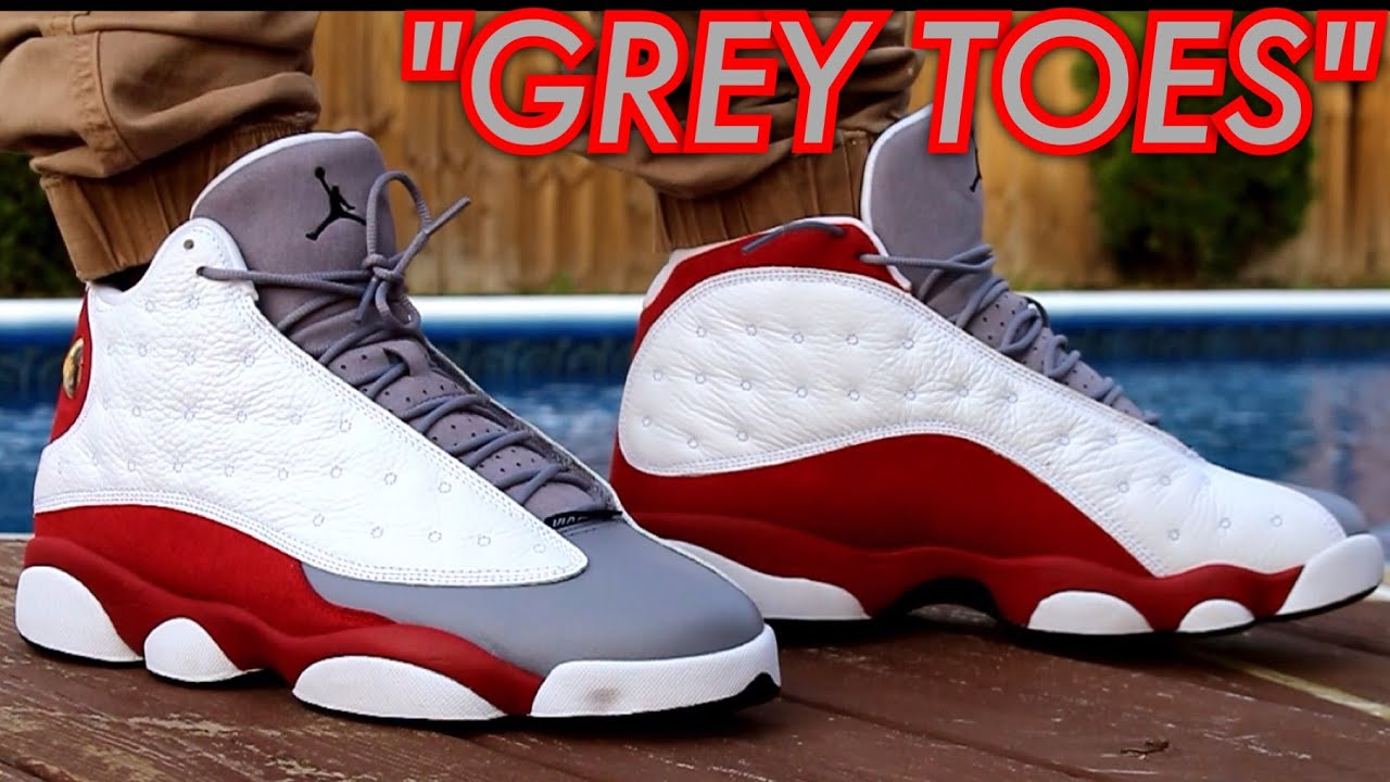 air jordan 13 grey toe 2014 on feet