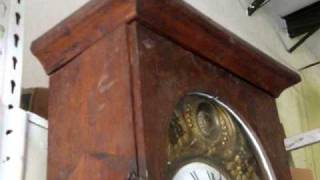 Antique Tall Case French Morbier Grandfather Clock 1800