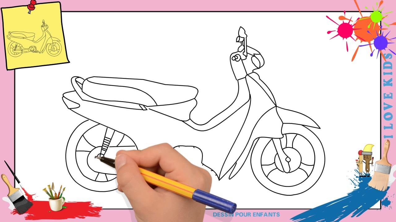 Dessin Moto Comment Dessiner Une Moto Facilement Etape Par Etape
