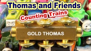Thomas and Friends , Counting Trains from the Mystery Box with Gold Thomas the Train