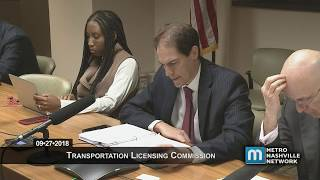 09/27/18 Transportation Licensing Commission