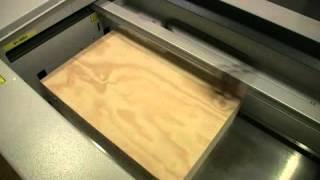 Wood engraving using a laser engraving machine
